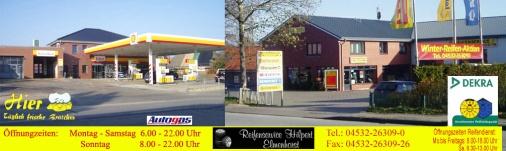 Die Tankstelle wird bereits seit 1952 betrieben. Später kam der Reifen- und Reparaturservice dazu.