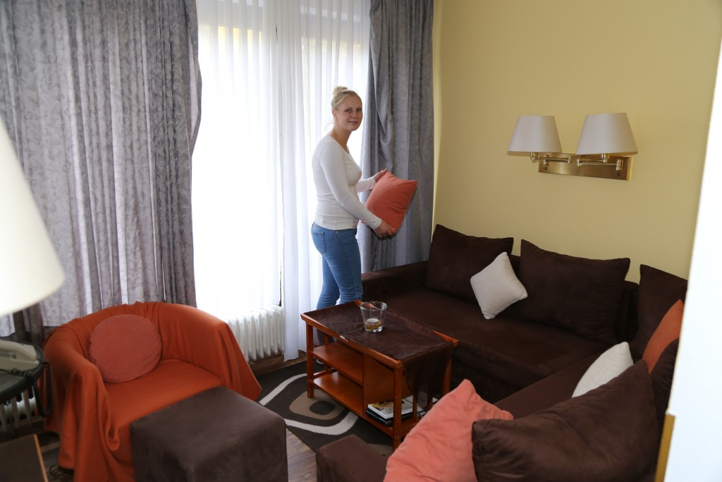 Die Junior-Suite mit separatem Wohnbereich