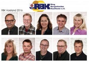 RBK Vorstand 2016: Andreas Luther, Bernd Runge, Isabell Stähr, Fred Burmester, Tanja Wilke, Andrea Wiekhorst, René Prosch, Wolfgang Sarau, Rolf-Peter Fröhlich, Sören Clausen (von li. oben nach re. unten)